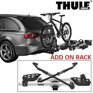 """NEW THULE PRO XT ADD-ON BIKE RACK 9036XTS 200799457 CARRIER SILVER 2"""" FOR USE WITH THULE T2 PRO #9034"""
