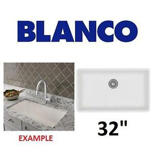 NEW BLANCO UNDERMOUNT KITCHEN SINK - 122431229 - PRECIS GRANITE COMPOSITE 32""