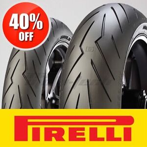 █ WOW - 40% OFF █ PIRELLI DIABLO ROSSO 3 Motorcycle Tires R6 848