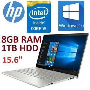 OB HP PAVILION LAPTOP PC 15.6 15-CS0009CA 242152787 i5-8250U 8GB RAM 1TB HDD WIN10 INTEL CORE NOTEBOOK COMPUTER OPEN...
