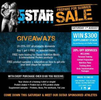 """Prepare for Summer """"SALE"""" at 5 Star Nutrition Dee Why Dee Why Manly Area Preview"""
