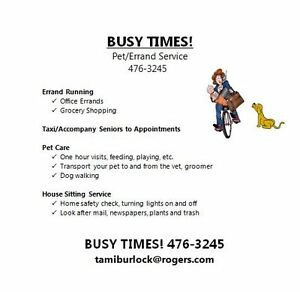 BUSY TIMES PET/ERRAND SERVICE