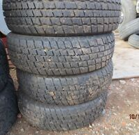 205/75/14 Cooper winter tires (4) plus 100 other good used tires