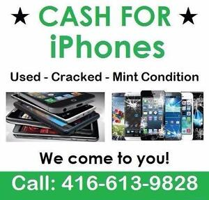 CASH FOR IPHONES --- IPHONE 6 / 6 PLUS 6S / 6S PLUS --- WE PICK UP!