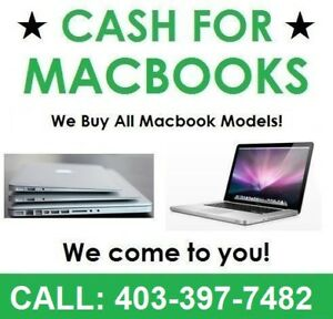 Cash for Your Macbook - 2010 2011 2012 2013 2014 2015 2016