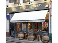 Waiter/Waitress with Wright Brothers (Full time - Borough Market)