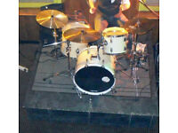 Full Drum Kit with Cymbals, Stands, Cases & Accessories