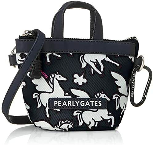 [Pearly Gates] Ball pouch (with Pegasus pattern and carabiner) / Golf accessory