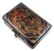 Asian Wood Jewelry Box