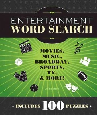 Word Entertainment Music (Entertainment Word Search : Movies, Music, Broadway, Sports, TV & More!, Pape... )
