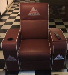Coors Light football reclining chair perfect for the man cave!!!
