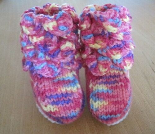 WARM+ADORABLE+RAINBOW+FESTIVAL+PARTY+FAIRY+BOOTEES.+AGE+0-3m.+PINKS