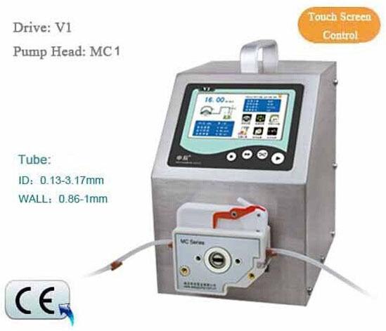 Flow Rates Peristaltic Pump Intelligent Type V1 0.000166-570 mL/min MC1-6R
