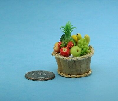 Fabulous 1:12 Scale Dollhouse Miniature Filled Fruit Basket BEST QUALITY!
