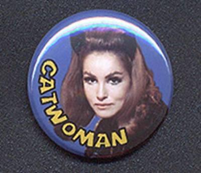 CATWOMAN 25mm Button Retro TV Pin Badge Classic Batman