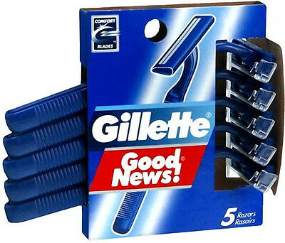 Gillette Good News Disposable Razors   5 Count  3 Pack