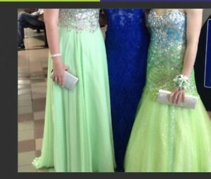 Turquoise / green prom dress