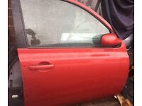 NISSAN MICRA RED DRIVER SIDE FRONT DOOR 2003-2009 FOR SALE !!