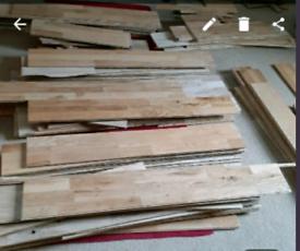 Engineered Oak flooring 10m square 12mm deep
