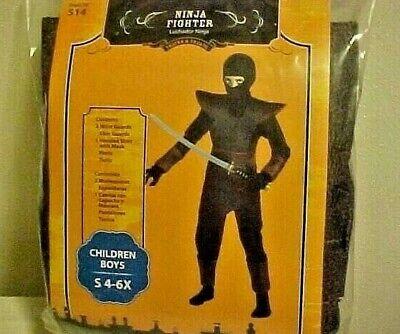 Costume Halloween Dragon Slayer Ninja Warrior Boys Size Small 4-6X - Boys Dragon Slayer Ninja Costume