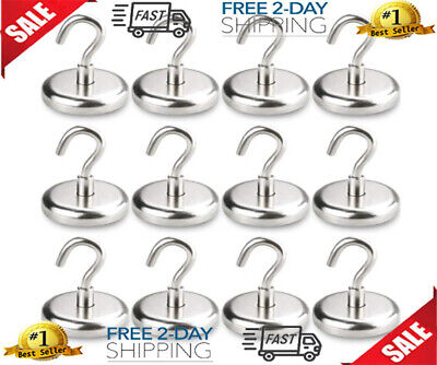 Heavy Magnetic Hooks Duty Hooks Strong Neodymium For Home Kitchen Workplace