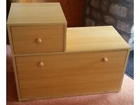 Wooden Shoe Cupboard with Drawer