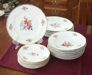 Bernadotte Porcelain Dishes - 23 Piece
