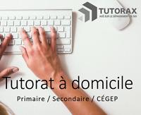 TUTORAT : Tuteur à domicile  (Math, science, français, anglais)