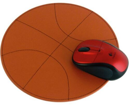 (New) Lot of 25 Leather Basketball Mouse Pads Orange