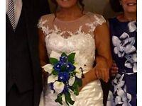 Ivory Satin/sequin & pearl Wedding Dress