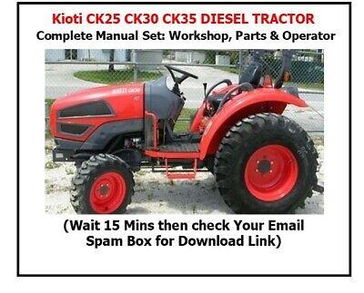 Kioti Ck25 Ck27 Ck30 Ck35 Tractor Manual Set - Workshop Parts Operator Manual