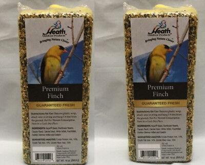 Bird Seed Finch Bar By Heath Products Premium 2 - 14oz bars - 28oz total
