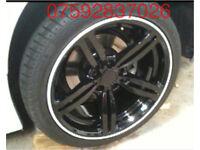 Alloy wheel guards C63 AMG A45 Mercedes ML Audi S3 S1 S4 S5 A1 A3 A4 A5 A6 A7 R8 Q7 Q5 RS3 RS4 Sline