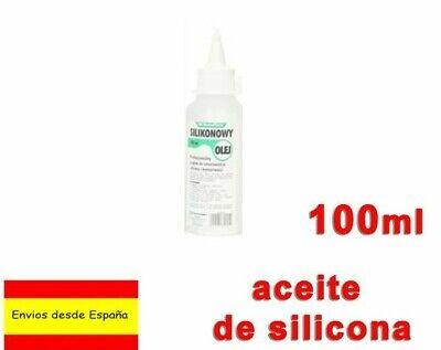 Aceite Silicona 100ml para lubricar piezas de plástico y goma bici Q0024