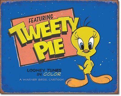 Tweety Retro Design Metall Deko Schild Looney Tunes Plakat