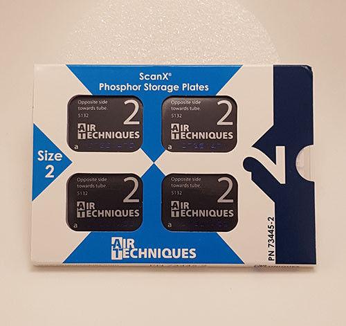 Air Techniques Inc 73445-2 ScanX Phosphor Plates Size 2 4/Pk