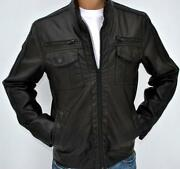 Mens Leather Jacket Medium