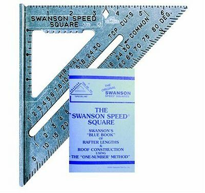 Swanson Tool SO101 7-inch Speed Square, New, Free Shipping