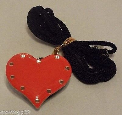Valentines Day Red Heart Flashing LED Light Pin magnetic Necklace button brooch
