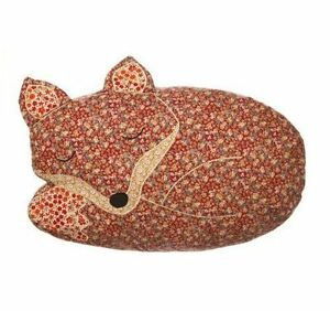 Sass & Belle Applique Sleeping Fox Cushion and Inner