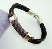 Cool Black Leather Bracelet