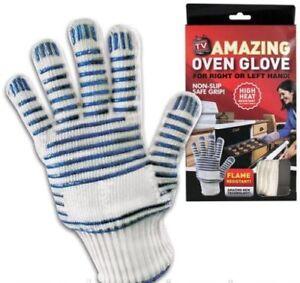 Flame Resistant Oven Glove Magic BBQ Mitt High Heat Non Slip Safe Grip Amazing