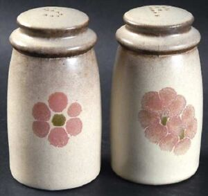 """Denby """"Gypsy"""" Salt and Pepper with """"S"""" and """"P"""" holes on top"""