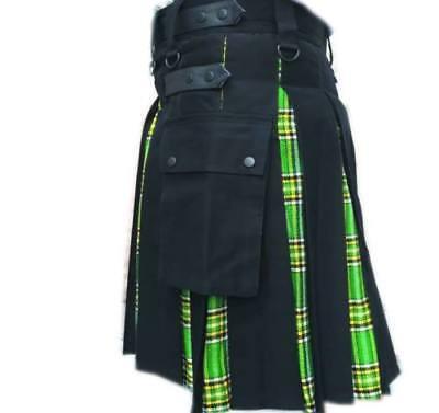 (Sale on eBay Scottish Hybrid Black& Irish Tartan Kilt Utility Kilt Custom Made)