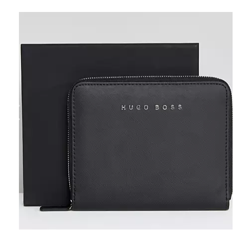 Hugo Boss Saffiano Folder, A6, Black, New in Presentation Box, $85, #HDS5222 Blank Diaries & Journals