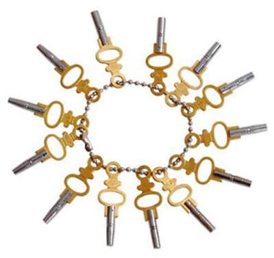 New 14pc Pocket Watch Winding Key Set Universal Jewelers Setting Tool Size 00-12