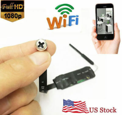 1080P HD 4K Wireless Spy network WiFi DIY screw Hidden Pinhole Mini Camera DVR