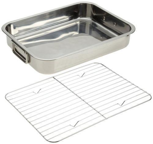 Stainless Steel Roasting Pan Ebay