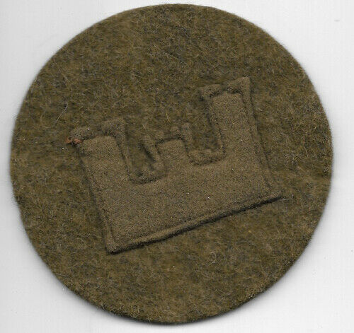 WWI Engineer Private Rank Patch