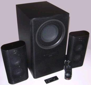 2.1 THX-Certified Altec Lansing Speaker set-up.